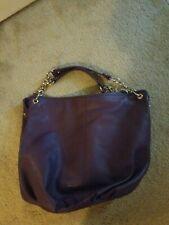 BODHI Purple Pebbled Leather Large Hobo Shoulder Bag Purse