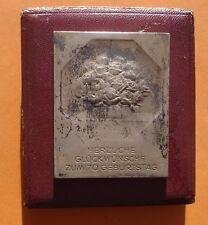RARE MÉDAILLE ART NOUVEAU BOUQUET DE ROSES - ARGENT 900 -SILVER PLAQUE 65M -TBE