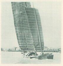G0591 China - Hong-Kong - Une grande jonque de mer chinoise - 1926 Old print