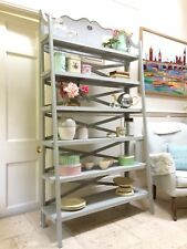 Rustic Grey Painted Tiered Plant Stand Shelving Unit Shelves Bathroom Kitchen