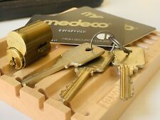 Medeco Biaxial Lfic Lock Core w/ Control And Operating Keys & Cards Locksport