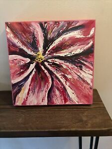 Original Art Contemporary Abstract Botanical Flower Painting Acrylic Canvas