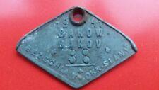 1941 WWII Dog Tag WKII hundemarke  Berzirk Schlan Bakov Bakow No.38