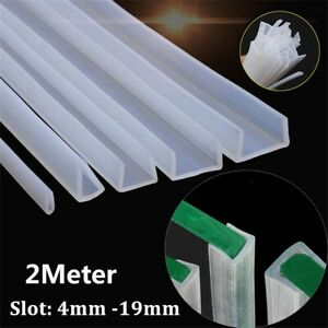 Silicone Rubber U-Channel Table Edging Seal Strip Square Bumper Multiple Sizes