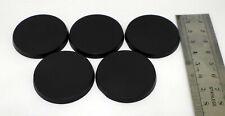5 socles ronds plastiques / plastic round bases 40mm