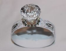"""HUGE Engagement Ring Marriage Proposal Glitter Band Faux Diamond Pearls 3""""x3.5"""""""