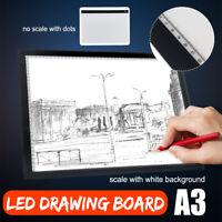 A3 USB LED Artist Tattoo Stencil Board Light Box Tracing Drawing Board Pad