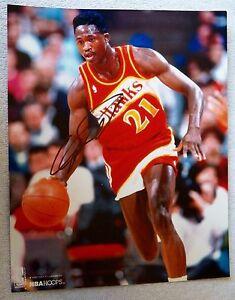 Atlanta Hawks Dominiquie Wilkins Signed 8x10 Photo Auto