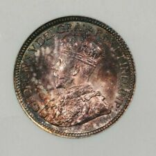 1917 Canada dime 10c ANACS old small holder MS63 beautifully toned