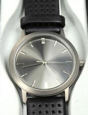 Armbanduhr Titangehäuse CITICENwerk 3 ATM Lederarmband schwarz nickefrl-NEU-