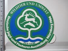 Aufkleber Sticker Dtsch. Jagd und Fischerei Ausstellung Nürnberg 1986 (3806)