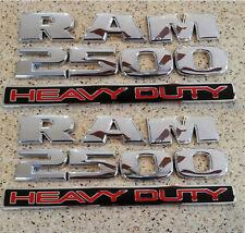 2pcs OEM Chrome Dodge RAM 2500 HEAVY DUTY Emblem Badges 3D Decal Glossy Fu New