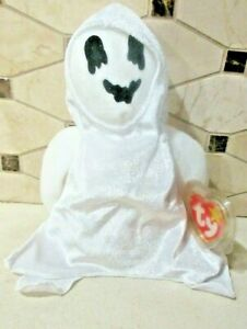 Ty Beanie Baby Sheets the Ghost DOB October 31, 1999 MWMT Free Shipping
