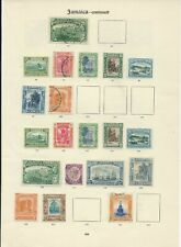 JAMAICA 2 PAGES FROM IMPERIAL ALBUM TO 1935 SILVER JUBILEE ISSUES MINT & USED