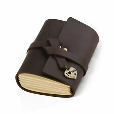 Ancicraft Leather Journal Diary Notebook A7 Mini With Heart I Love You Handma