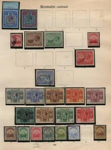 BERMUDA: George V Examples - Ex-Old Time Collection - Album Page (41023)