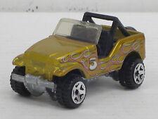 Jeep / Geländewagen in gold + Dekorstreifen, o.OVP, Hot Wheels, 1:64