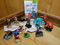Disney Infinity 1.0 XBOX 360 Game Lot with 2 Bases 12 Figures and Game