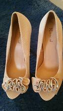 ladies dressy open toe ruffle trim high heel shoes rascal.great wedding shoes