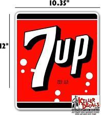 "12"" 7UP 7 UP COOLER POP soda coca cola machine decal (7UP401)"
