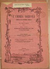 L'UMBRIA AGRICOLA 30 DICEMBRE 1886 PALLANZA CAVALLI PESCE FICHI SORGO VINO WINE