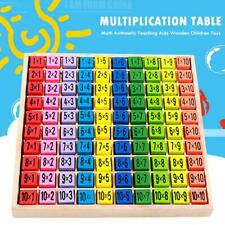 99 Multiplication Table Math Arithmetic Teaching Aids Wooden Children Toys