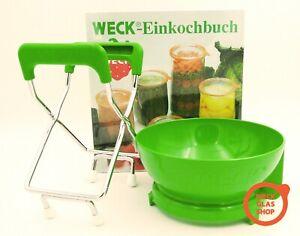 Weck® Zubehör Set zum Einkochen Einkoch-Buch Trichter RR100 Glasheber  Rezepte