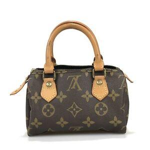 100% authentic Louis Vuitton mini Speedy handbag M41534 Used 1015-5-e@2