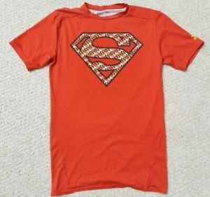 Under Armour Superman Alter Ego Marvel HeatGear Compression Shirt Red Camouflage