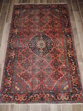 Antique Handmade Persian Bijar Wool Rug 4x7ft.
