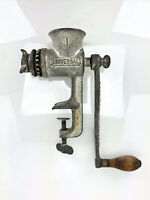 ANTIQUE MEAT GRINDER UNIVERSAL NO.1 ORIGINAL WOOD HANDLE NEW BRITAIN CONN NICE!