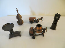 5 Vintage  Diecast Pencil Sharpeners Collectible