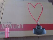 "Student Lounge Neon Handmade Glass 16"" Light Sign ""Heart"" New In Box"