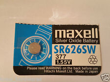 1x Maxell 377/SR626SW 1.55v Alkaline Battery for Watch etc- Post from MELBOURNE
