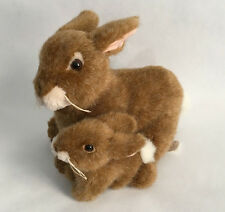 "Fiesta 10"" Mother and baby Cottontail Rabbit plush set"