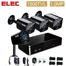 ELEC 4CH 960H 1500TVL CCTV DVR Outdoor IR Cut Home Security Camera Systems Kit