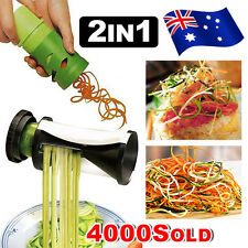Best 2PK Fruit Vegetable Peeler Spiralizer Cutter Twister Food Spiral Slicer