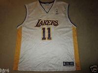 18e78a74d Karl Malone  11 Los Angeles Lakers NBA Sunday White Reebok Jersey 2XL