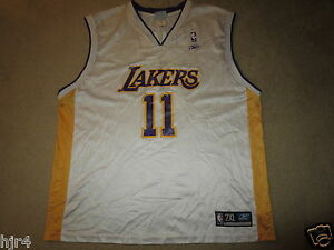 Karl Malone #11 LA Lakers NBA Sunday White Reebok Jersey 2XL 2X mens