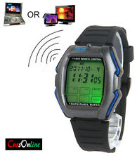 OROLOGIO Polso Telecomando Tv Dvd Luce led Cronografo Touch Screen Universale!!!