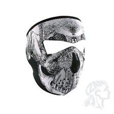 Oversized Large Black White Skull Neoprene Full Face Mask Biker Paintball ATV