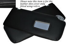 GREY STITCH 2X SUN VISORS LEATHER COVERS FITS TOYOTA HILUX  2005-2013