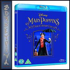 MARY POPPINS - 50TH ANNIVERSARY EDITION - **BRAND NEW BLU-RAY REGION FREE*