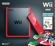 -*BRAND NEW*/- NINTENDO - Wii Mini Video Game Console w/ Mario Kart Game! - RED