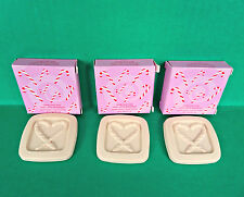 3 Avon Candy Cane Christmas Holiday Guest Travel Mini Soap Lot Vanilla Cream