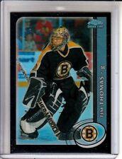 2002-03 Topps Chrome Black Border Refractors Tim Thomas RC /100 Boston Bruins