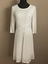 Cato Size Small Dress Ivory Ribbed Stretch Lined Semi Sheer Stretch NWOT