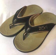 japanese zori sandals Size 9 Mens Black Thong Orthotic X5 -3629 Sandals