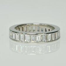 Tiffany & Co. PLATINUM Channel Set Baguette Diamond Eternity Band Wedding Ring