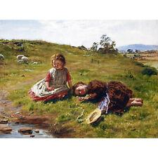 Mctaggart Spring Scotland Children Landscape Painting Large Canvas Art Print
